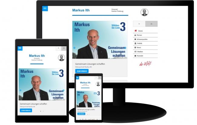 Drupal Homepage Markus Ith